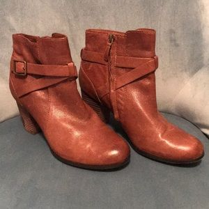 Brown leather Cole Haan ankle boots